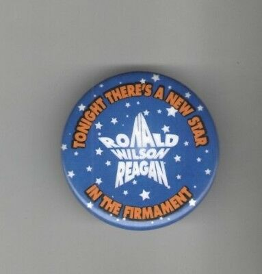 1980s pin Ronald REAGAN pinback A new STAR in the FIRMAMENT