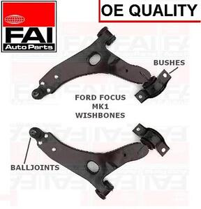 FORD FOCUS MK1 FRONT 2 x LOWER SUSPENSION WISHBONE ARMS NEW