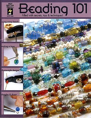 Beading Jewelry Making Craft Book Beading 101 Bead Stringing Designs BOOK#1