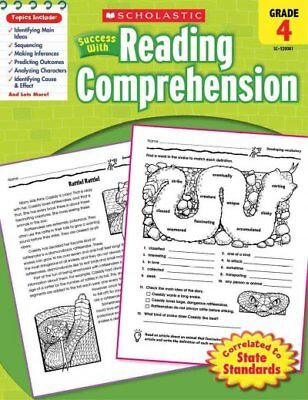 Scholastic Success With Reading Comprehension, Grade 4, Paperback by Scholast...
