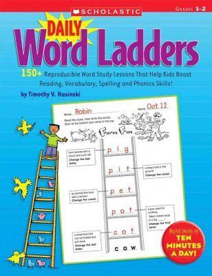 Daily Word Ladders : Grades 1-2, Paperback by Rasinski, Timothy V., Brand -