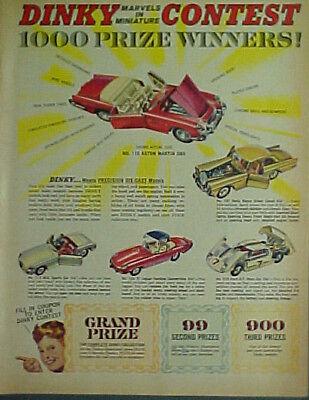 1965 Dinky Metal Diecast Toy Cars:ROLLS ROYCE~JAGUAR SPORTS CAR MEMORABILIA AD