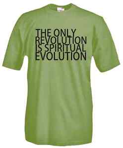T-Shirt-manica-corta-Politic-J99-The-only-revolution-is-spiritual-evolution