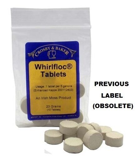 WHIRLFLOC IRISH MOSS 10 TABS HOMEBREW CLARIFIER TABLETS FOR BREWING BEER MAKING
