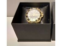 ACCURIST MENS CHUNKY GOLD PLATED WATCH
