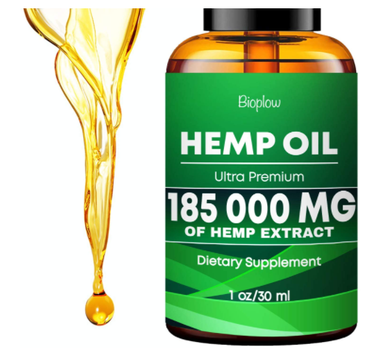 Hemp Oil 185 000 mg No More Stress Anxiety and Pain Immune System Support Vegan