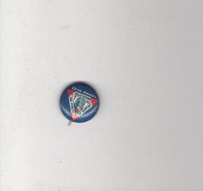 Vintage pin INGATHERING pinback  CHRISTIAN button Minutmen  CROSS MMI