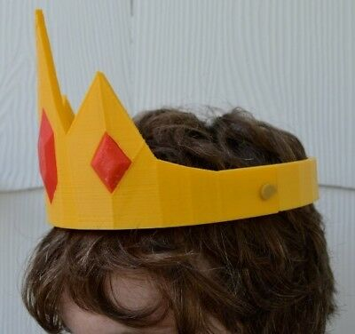 Ice King Crown Adventure Time  Cosplay stampato - Adventure Time Cosplay Kostüme