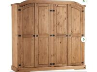 Large Pine Wardrobe (Dunelm Corona, currently 384 pounds in store) H 189cm x W 196cm x D 57cm