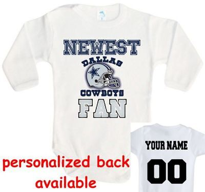 fan Dallas Cowboys One Piece jersey personalized (Dallas Cowboys Baby-sachen)