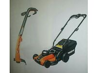 Lawnmower and trimmer set