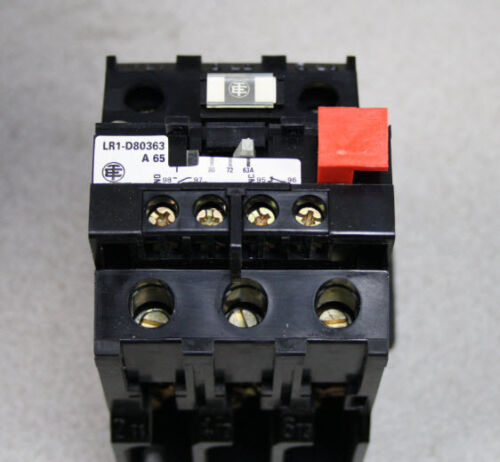 Telemechanique Overload Relay Lr1d80363a65 30-65a Thermal Overload Relay