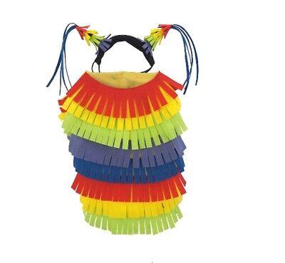 NEW Medium dog pet PINATA Halloween costume outfit headpiece 15-30lbs 14-16