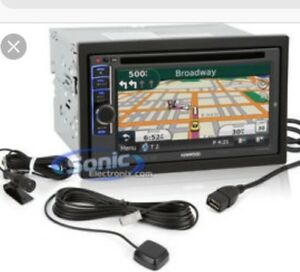Kenwood model 6180 double din stereo with garmin gps