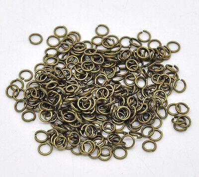 200 x Antique Bronze Open Jumprings / Jump Rings  Craft Findings - 5mm - B12908C