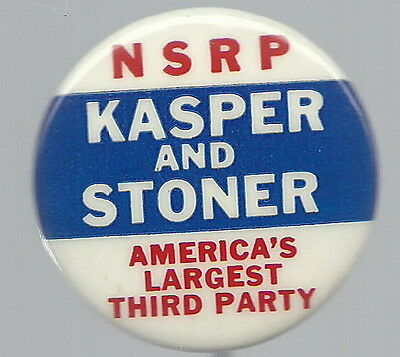 KASPER, STONER 1964 NATIONAL STATES RIGHTS 1964 PIN
