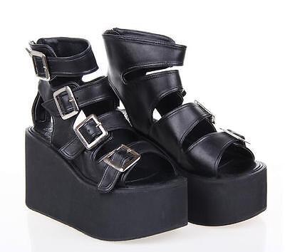 Gothic Goth Lolita Schuhe Shoes sandals Sandalen Pumps Plateau Cosplay Kostüm