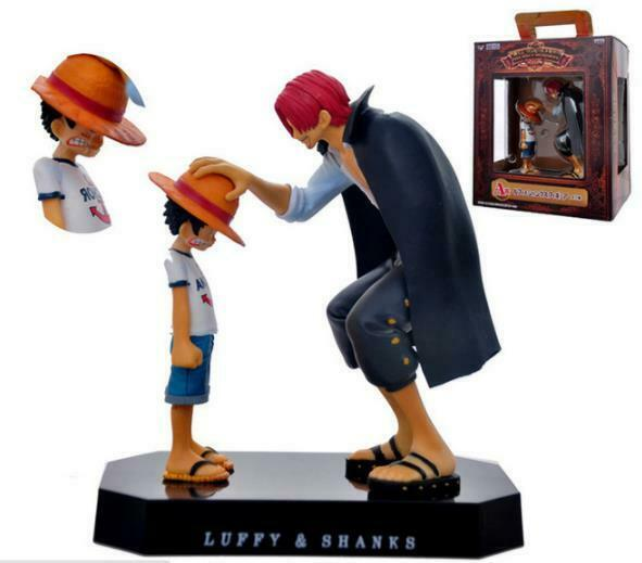 Anime ONE PIECE Shanks+Monkey D Luffy Action Figure Collectible Gift 18cm 0041