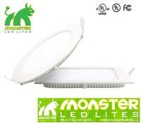LED 4''/6'' Slim panel light pot light High Lumen Round/Square