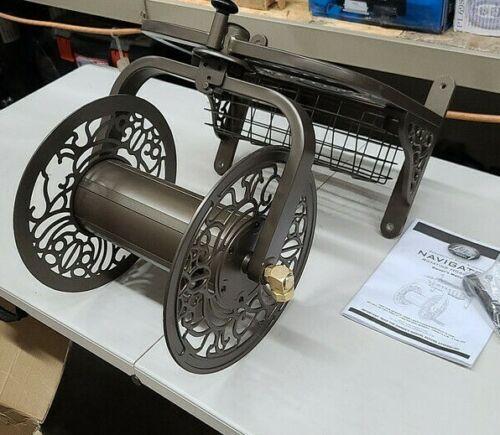 Liberty Garden 714 Decorative Cast Aluminum Navigator Rotating Garden Hose Reel
