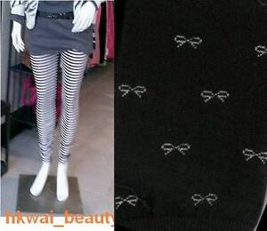 New-Footless-Leggings-Tights-Butterfly-Thick-Black