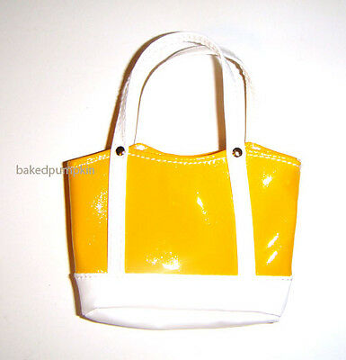 Barbie Doll Sized Yellow Tote/Bag Accessory For Dolls ac23