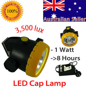 Miners-Cordless-Power-LED-Helmet-Light-Safety-Head-Cap-Lamp-Torch-BK-2000