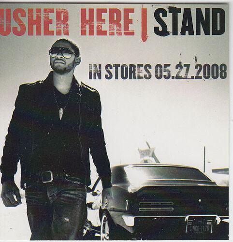 Usher Here I Stand RARE promotional sticker