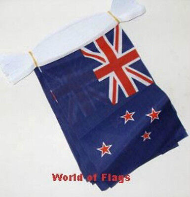 NEW ZEALAND FLAG BUNTING Kiwi 9m 30 Polyester Party Flags Oceania