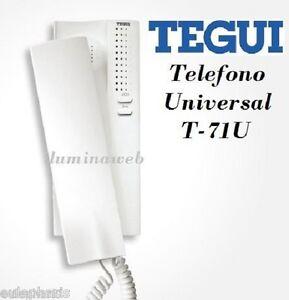 Telefono universal tegui t 71u telefonillo serie 7 for Telefonillo portero automatico universal