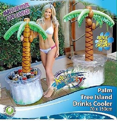 Aufblasbarer Getränkekühler Palme Getränke kühlen Party Flaschenkühler Sommer