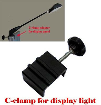 C-clamp Adapter Converter for  Pop Up Tension Booth Display Light LED/Halogen