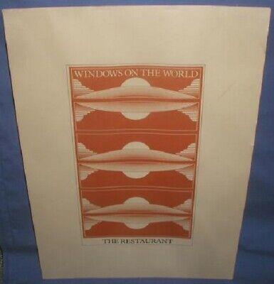 ORIG. WORLD TRADE CENTER NEW YORK WINDOWS ON THE WORLD RESTAURANT MENU