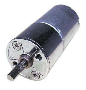 One mini 12v dc high torque gear motor 200rpm for hobby ebay for Mini gear motor dc