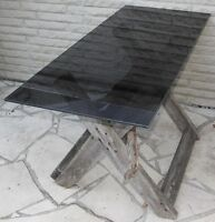 Primitive Rustic Dining Table from driftwood with glass top
