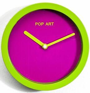 wanduhr pop art pink gr n 16 cm uhr uhren wanduhren. Black Bedroom Furniture Sets. Home Design Ideas
