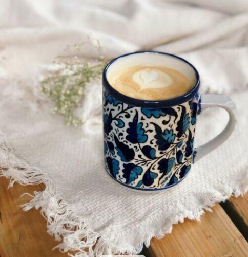 Handmade Blue White Ceramic Mug nice