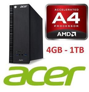 NEW ACER ASPIRE DESKTOP COMPUTER PC Acer Aspire AXC-217-EW61 Desktop with AMD Quad Core A4-7210 1.8GHZ Processor