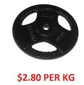 CAST WEIGHT PLATES OLYMPIC AND STANDARD - $2.80 PER KG