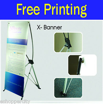 Trade Show X Banner Pop Up Stand Display Free Printing Made In Usa 24 X 62.5
