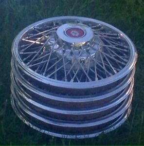 """14 """" wire hubcaps"""
