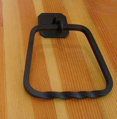 Towel Ring Black Wrought Iron DAKOTA 64022