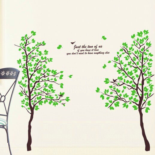 Home Decoration - DOUBLE TREE MODERN REMOVABLE WALL STICKER VINYL DECAL HOME ROOM MURAL DECOR 6922