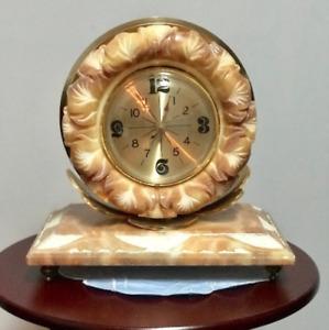 Horloge en Onyx Vintage