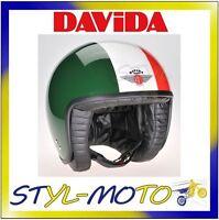 80290 Helmet Davida 80-jet Two Tone Green / White / Red Size L - davida - ebay.co.uk