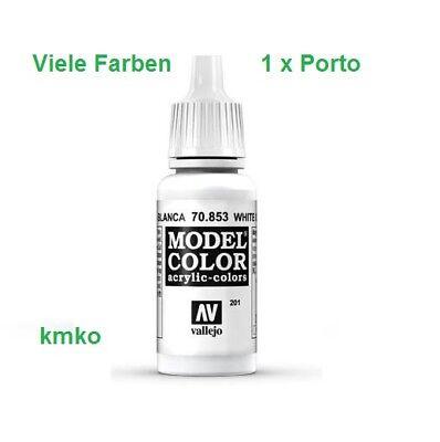 Vallejo 201 70.853 Lasurweiss White Glaze 17ml 14,71 €/100ml
