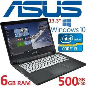 "REFURB ASUS 2IN1 TOUCH NOTEBOOK PC - 116174108 - 13.3"" TOUCHSCREEN INTEL I3 5010U 6GB RAM 500GB HDD WINDOWS 10 LAPTOP..."