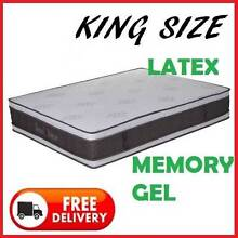 DELIVERED FREE - KING Size Cool Gel + Latex Double-Sided Mattress New Farm Brisbane North East Preview