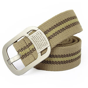 Unisex-Webbing-Military-Expedite-Mens-Canvas-Pin-Buckle-Waist-Outdoors-Belts-1pc