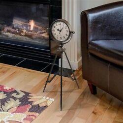 FU87958 - Verne Tripod Timepiece Tabletop Clock - Steampunk!